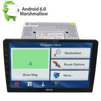 Android6.0 10,1 съемный автомобильный стерео полный сенсорный Панель gps радио OBD2 BT без DVD