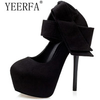 Extreme High Heels Shoes Sexy Heels Women Dress Shoes Bow Women Platform Shoes Green Pumps Red