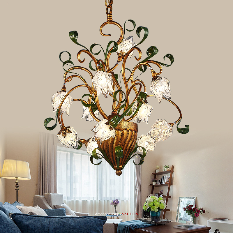 American country style restaurant chandelier  iron bedroom modern minimalist chandelier and creative personality study chandelie american country loft style creative simple and modern pendant light iron stand chimney study restaurant lights free shipping