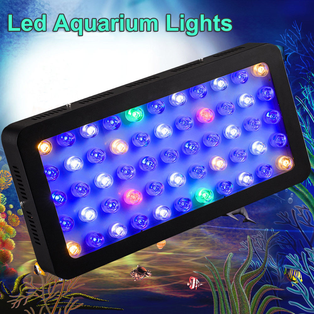 LED Fish Grow Light 165W Aquarium Light Full Spectrum Dimmable LED Plant Grow Light 55LEDs For Fish Tank Reef Marine Coral Lamp 600w led light smart marine full spectrum led aquarium reef coral light sunrise sunset cloudy storm moon aquario dimmable timer