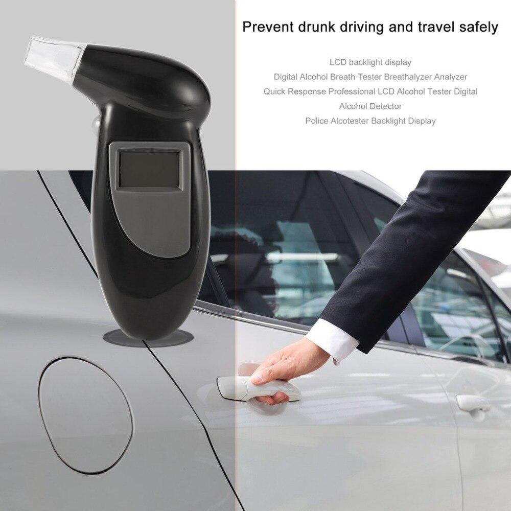 2018 Handheld Backlight Digital Alcohol Tester Digital Alcohol Breath Tester Breathalyzer Analyzer Lcd Detector Backlight Light Travel & Roadway Product