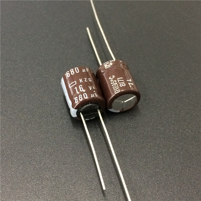 10pcs 680uF 16V NCC KZG Series 10x12.5mm Super Low ESR 16V680uF Aluminum Electrolytic Capacitor