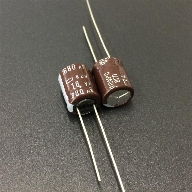 10pcs 680uF 16V NCC KZG Series 10x12.5mm Super Low ESR 16V680uF Aluminum Electrolytic Capacitor