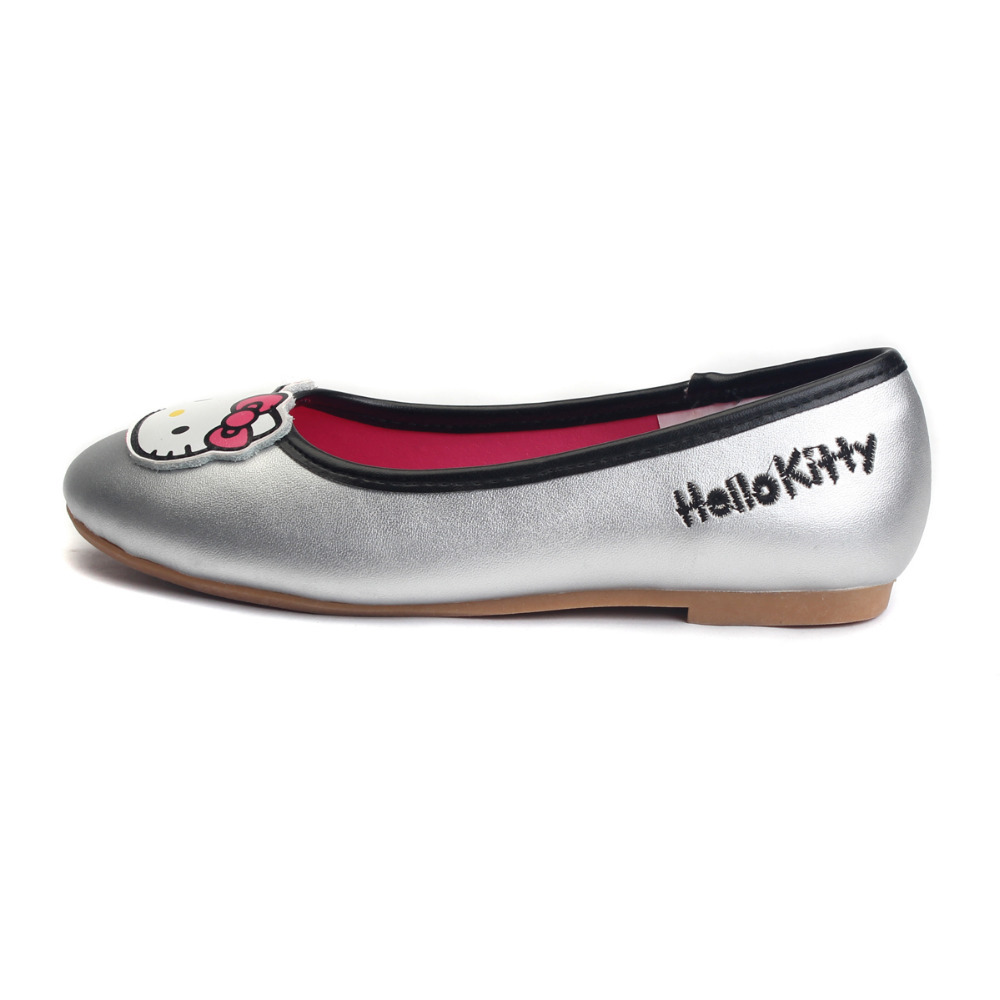 NUSKIN Hello Kitty Genuine Leather Summer Ballerina Flats Cute Princess  Kids Flats Silp On Girls Dressy Shoes Youth-in Leather Shoes from Mother    Kids on ... 311ac0f88a88