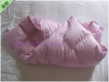 Colcha de plumón de ganso para bebés/100*100 cm/relleno con 250g de tela de plumón de ganso/80 s /rosa