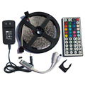 SMD3528 RGB y de Un Solo Color Tira de Luz LED para uso En Interiores IP20 300 Led 5 M Cinta Flexible Kit + Mando a distancia IR + Adaptador
