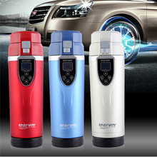 Multi-function car electric cup DC12V Car Cigarette Lighter Heating Cup Kettle Insulated Stainless Steel Travel Mug Coffee Cup