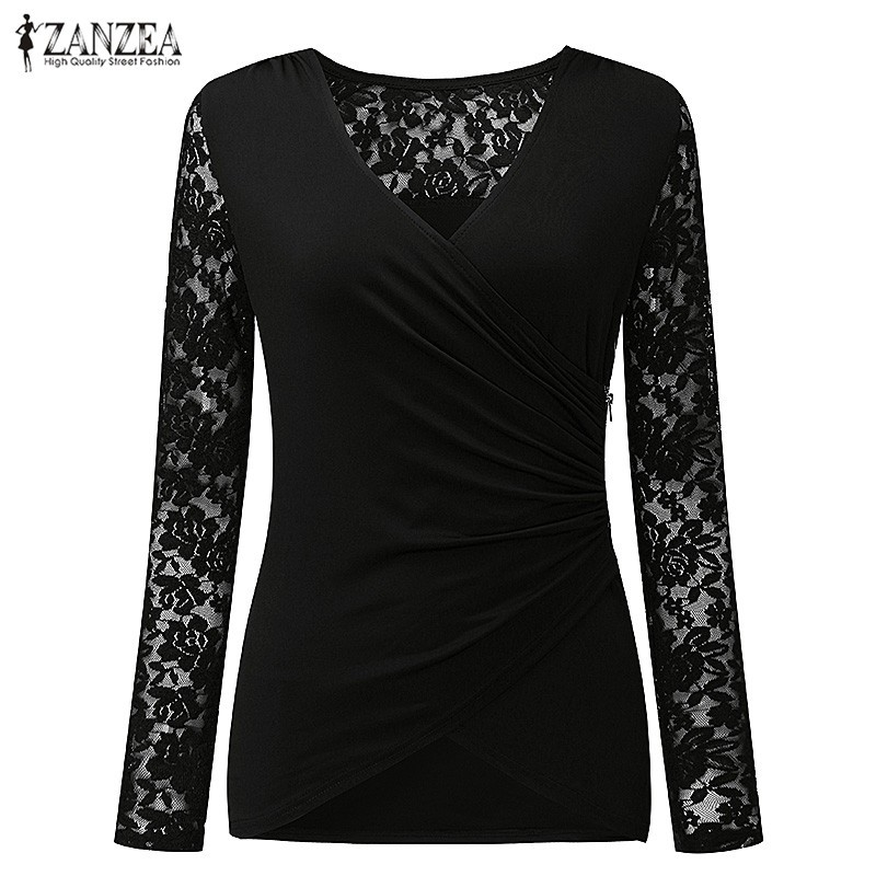 HTB1soNhOXXXXXXCapXXq6xXFXXXd - Women Lace Blouses Tops 2017 Autumn Sexy V Neck Long Sleeve