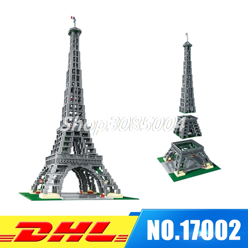 Fit For 10181 IN STOCK DHL LEPIN 17002 3478pcs The Eiffel Tower Model Set Building Kits Blocks Bricks Christmas Gift Toy lepin 17002 3478pcs paris eiffel tower model kits building blocks bricks toys compatible 10181 for children gift