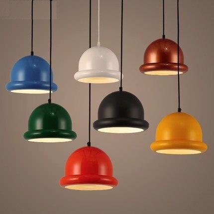 Moderne Plafond Pendentif Lustre Lampe à Lumière Shades Multi Couleur Modèle Créatif