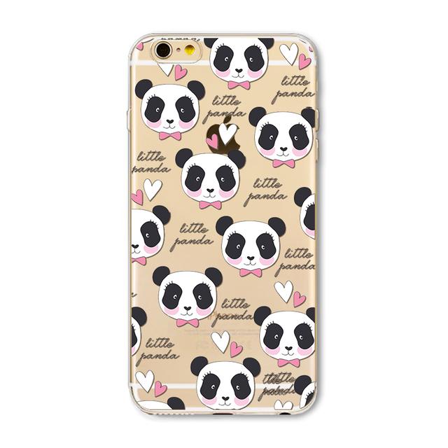 Etui Panda iphone 7 7 plus se 5 5S 6 6 S Plus 4 4S