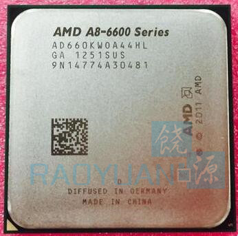 AMD A8-Series A8 6600 A8 6600K 3.9GHz Quad-Core CPU Processor AD660KWOA44HL Socket FM2 wavelets processor