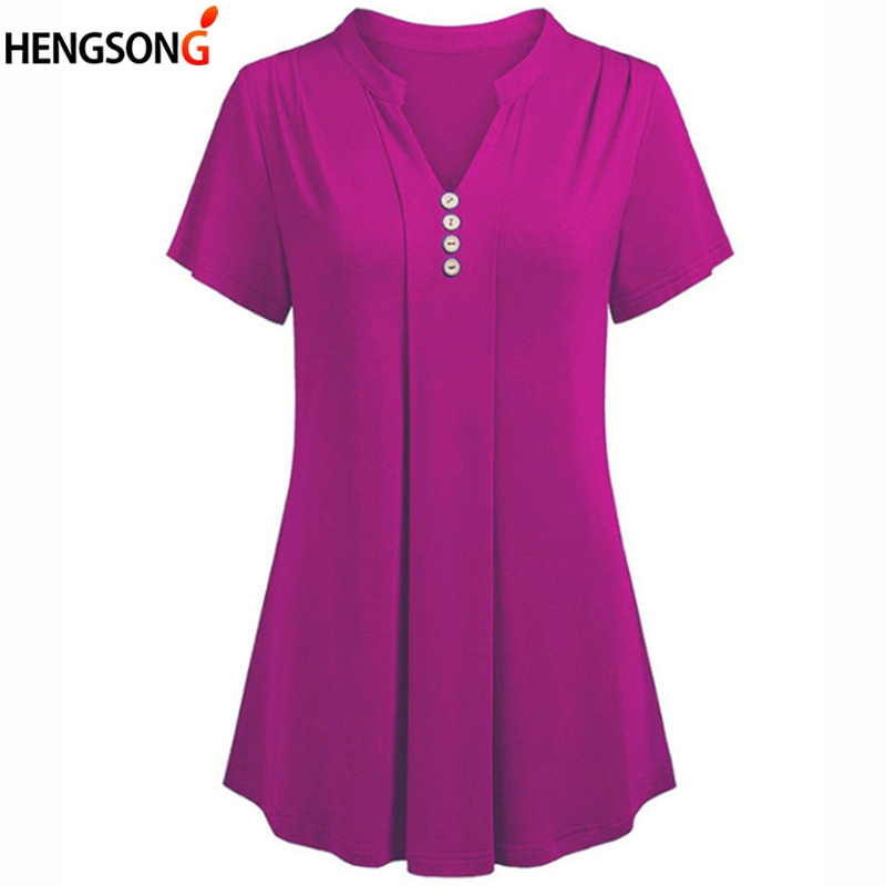 T Shirt Women 2019 Summer T-Shirt Woman Tops Tees Ladies Solid Color Short Sleeve V Neck Casual Tshirt Camisetas Feminina