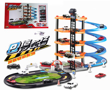 Multi-layer toy assembling Friend Electric Train Track Cars on the radio Thomas Train Toys Electric Rail Thomas Free Shipping