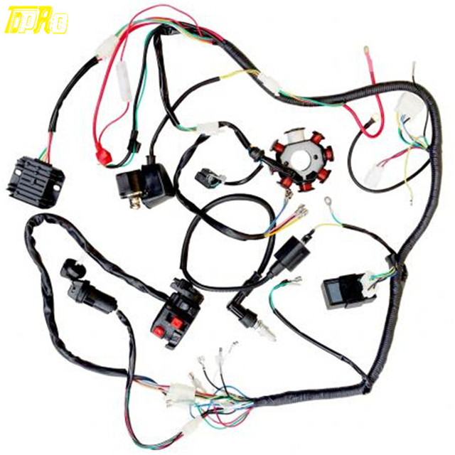 4 wire cdi chinese atv wiring diagram auto rod controls 3700 250cc great installation of complete electric harness magneto coil for 200cc rh aliexpress com 110cc scooter