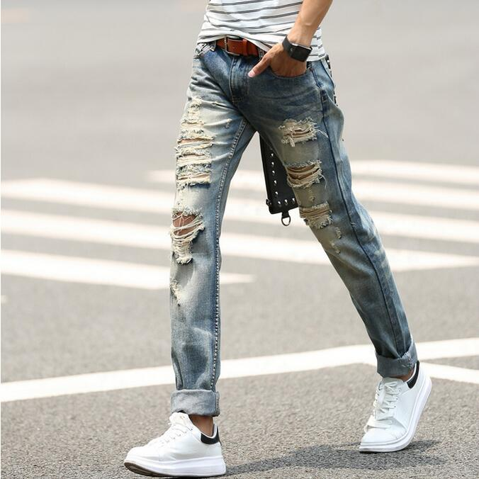 Online Buy Wholesale distressed jeans men from China distressed ...