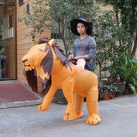 NADMUCHIWANE LION COSTUME FANCY DRESS OUTFIT HEN STAG SAFARI kigurumi Halloween Costume dla Kobiet/Mężczyzn Nadmuchiwane Tygrys Kostium