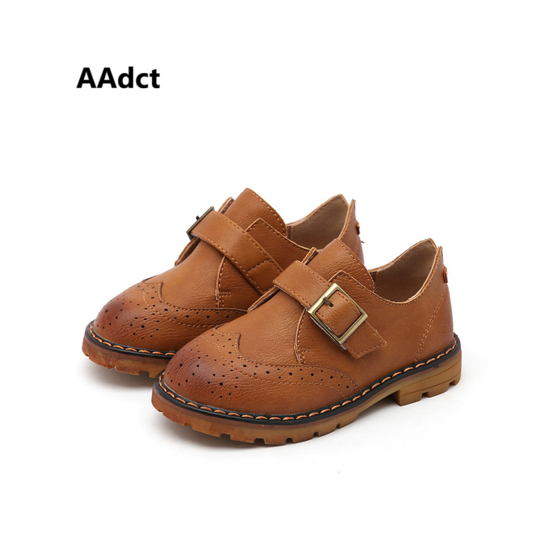AAdct toddler baby shoes 2018 spring new fashion little children shoes for Girls Boys Rock leather shoes Brand High-quality soft