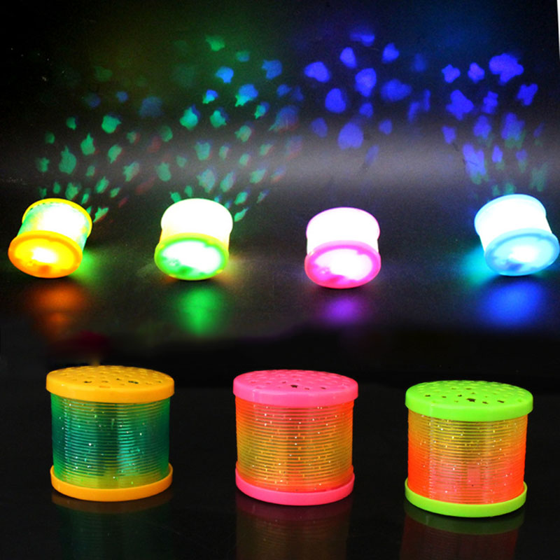 Children's Novelty LED flashing rainbow circle Sleep Light Colorful lantern kids projection fruits Lamp boy/girls light-up