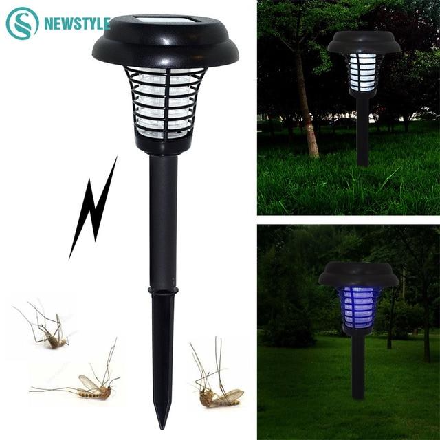 Anti Mosquito Plug In Earth Solar Lamp Waterproof Street Lights Garden Led