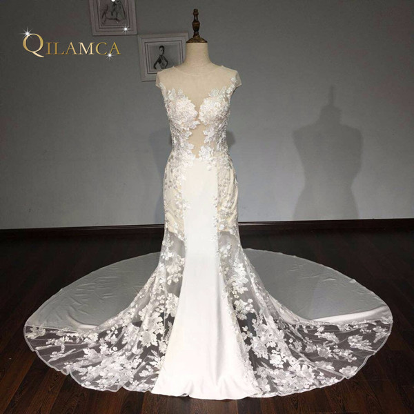 Vestidos De Noiva Custom Made Bridal Gowns Ivory Lace Mermaid Wedding Dresses 2017 Aliexpress