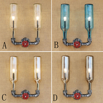 Retro Industrial iluminacion led wall lamp Glass shade iron rust include G4 bulb wall light for living room restaurant 220V