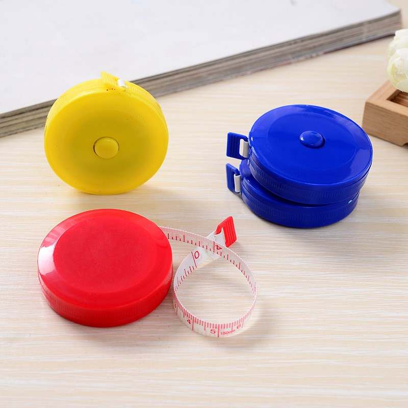 1pc Mini Tapeline Measuring Rod Tape The Tape Measure Stretching Rule Retractable Pull 1.5m Office School Supplies