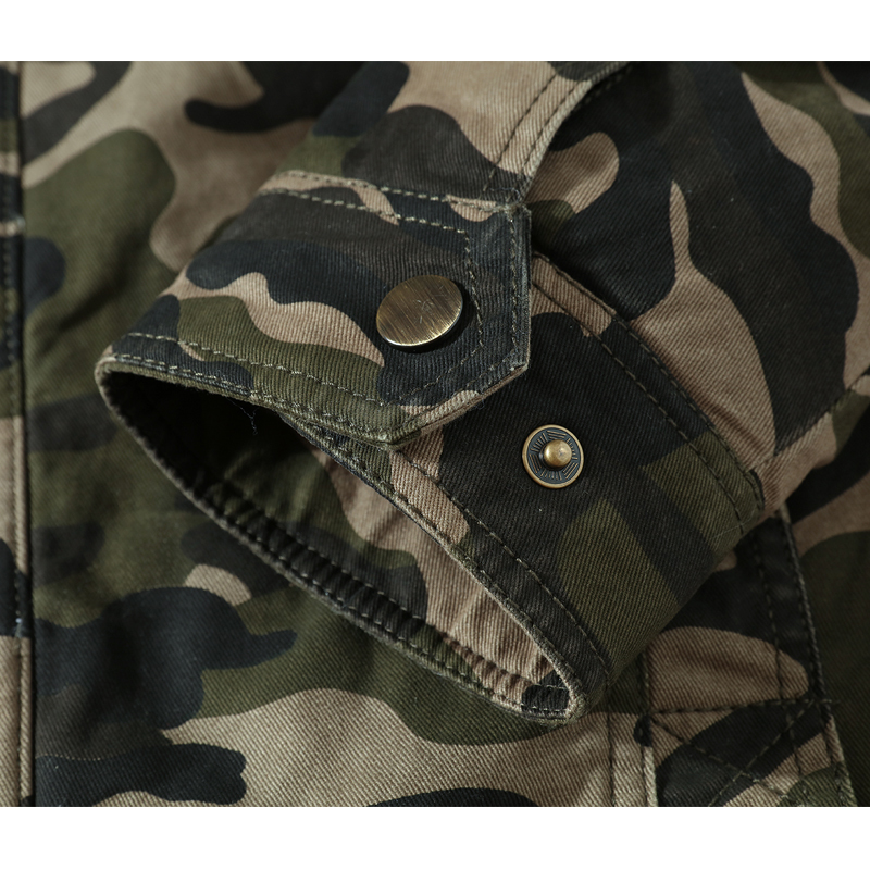 Algodón Fleece Chaqueta Verde khaki Parka Fleece Militar Ejército Green Outwear Hombres Coat Bombardero Gruesa army caqui Invierno Caliente Camuflaje Militar Masculina Jaqueta Piloto 0pxg8xn