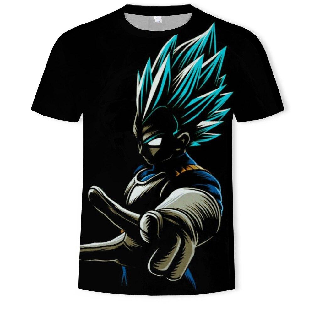 Dragon Ball Super Saiyan Children 3D T-Shirt Black Male/Female Print Dragon Ball T-Shirt Digital Casual Short Explosion Sleeve