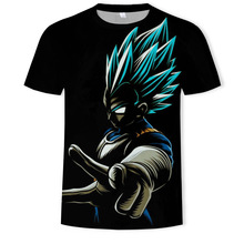 Dragon Ball Super Saiyan Children 3D T-Shirt Black Male/Female Print Digital Casual Short Explosion Sleeve