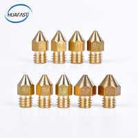 HUAFAST 1 PCS MK7 MK8 Düse 3D Drucker teile 0,2 0,3 0,4 0,5 0,6 0,8 1,0 1,2 1,5mm Extruder 1,75mm Filament Kopf Messing Metall