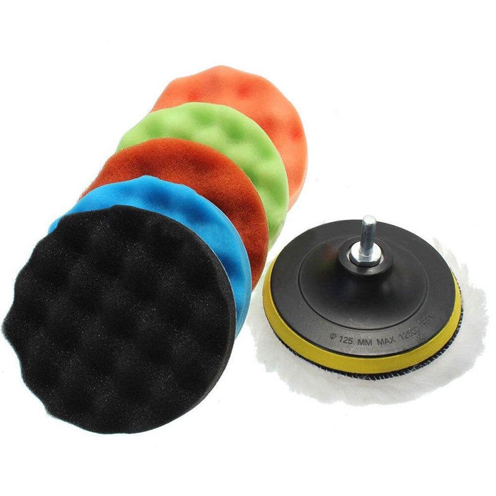 Губка для полировки 8 шт. полировальная Подушка Автомобильная Губка для полировки портативная Автомобильная полирующая пена 4 дюйма автонакладка комплект