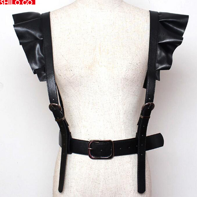 HOT 2016 new fashion summer women lace high quality synthetic sheepskin shoulder punk personality tide models decorative belts