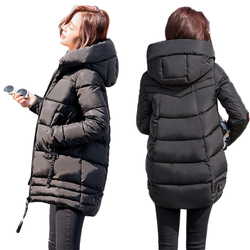Irregular Winter Jacket Women Plus Size Womens Parkas Thicken Outerwear Solid Hooded Coats Female Slim Cotton padded Basic Tops