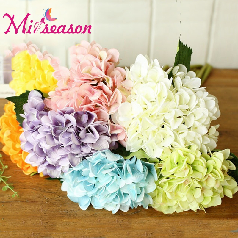5 pcslot 7 color artificial hydrangea flowers silk flower bouquet 5 pcslot 7 color artificial hydrangea flowers silk flower bouquet floral hydrangea decor for home wedding party photography mightylinksfo