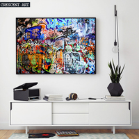 Hot Sale Modern Pop Teenage Graffiti Street Art Poster Abstract Wall Picture Canvas Print Photo Home