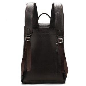 Image 4 - MVA sacs à dos en cuir véritable pour homme, cartable de grande capacité, sac à dos pour ordinateur portable étanche, sac de voyage, sac de jour pour adolescent