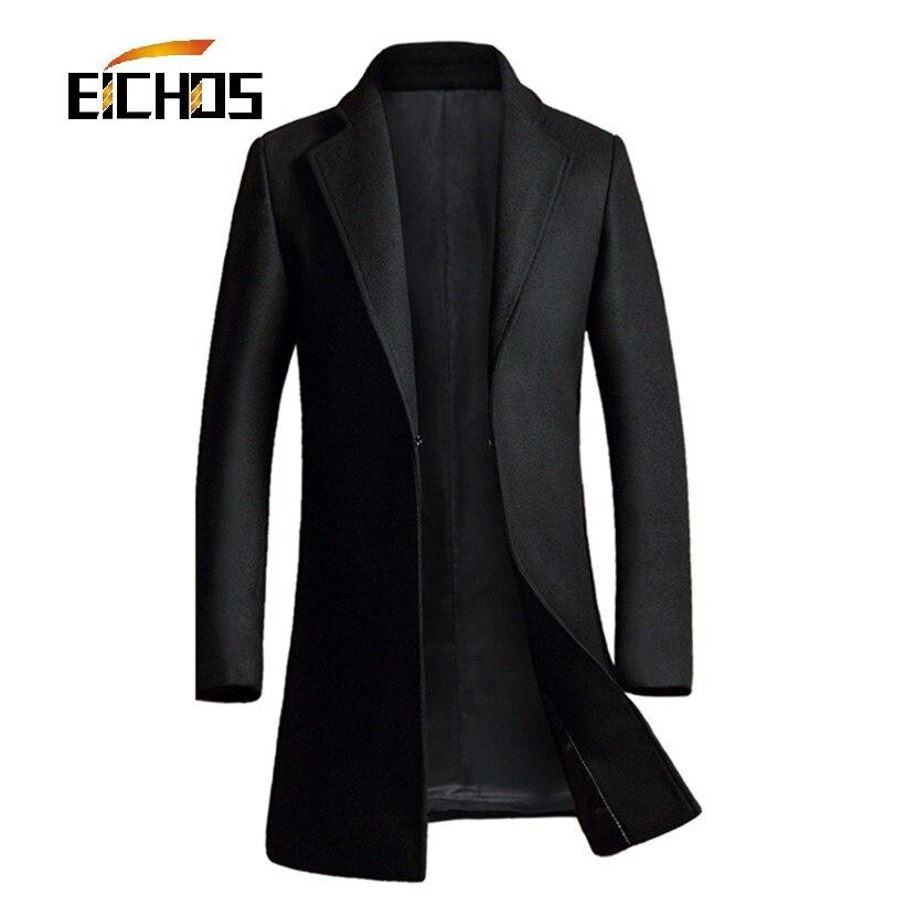 2016 Autumn And Winter Wool Coat Men Long Coat Slim fit Mens Cashmere Coat Youth New Fashtion Overcoat Men Wool Coat