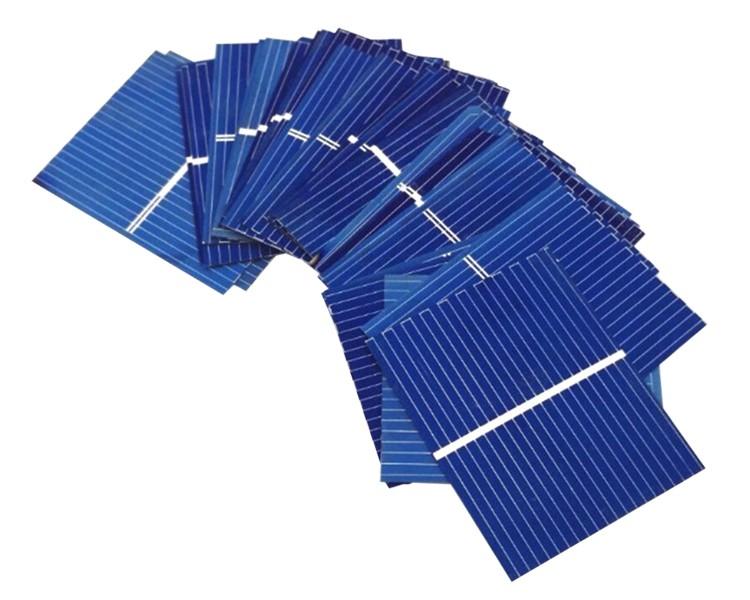 Aoshike 100pcs Solar Panel Sunpower Solar Cell photovoltaic panels Polycrystalline DIY Solar Battery Charger 0.5V 0.17W 39x26mm 4