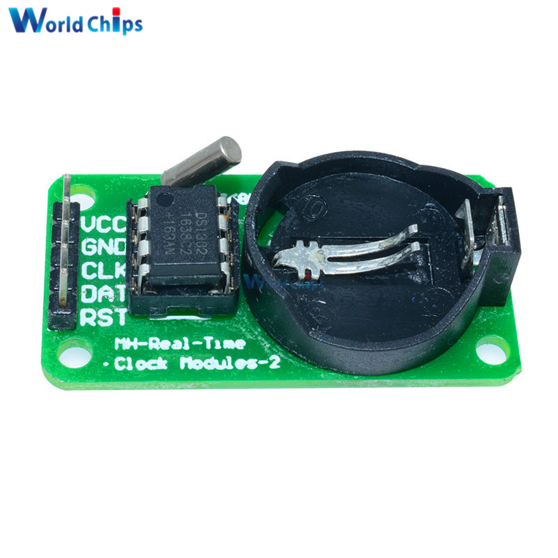 5PCS 3.3V 5V <font><b>DS1302</b></font> Real Time <font><b>Clock</b></font> Module For Arduino UNO With CR2032 AVR ARM PIC SMD Without Battery image