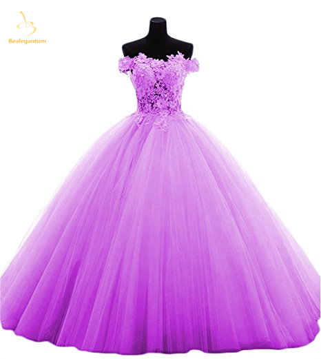 Bealegantom rouge lilas jaune rose vert robes De Quinceanera 2019 robe De bal perlée douce 16 robe Vestidos De 15 Anos QA1384