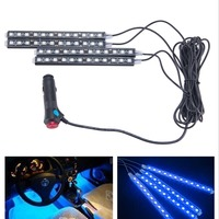 New 4x9 LED 7 Colors Led Car Atmosphere Lights Decoration Lamp 12v Auto CarLed Interior Lights