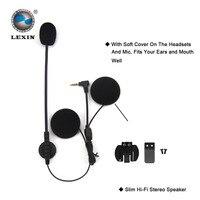 2 개 브랜드 lexin 인터콤 헤드셋 및 클립 세트 액세서리 lx-r6 블루투스 헬멧 인터폰 인터폰 헤드폰 잭 플러