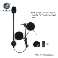 2PCS Brand Lexin Intercom Headset Clip Set Accessories For LX R6 Bluetooth Helmet Interphone Intercom Headphone