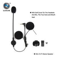 2PCS Brand Lexin Intercom Headset Clip Set Accessories For LX R6 Bluetooth Helmet Interphone Intercom Headphone
