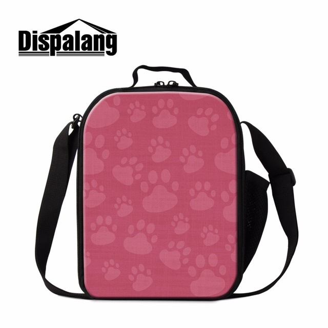 1cb4fa5c701c Dispalang Hottest Lunch Sack for Students Lunch Bag with Water Bottle Side  bag Footprint Pattern on