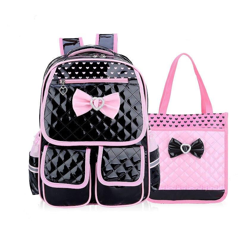Waterproof Kids School Bags Children Backpack Set Girls Pu Leather Backpacks Schoolbags Kids Princess Backpack Mochila Infantil