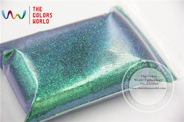 TCR402 Malaquita Iridiscentes Verde Con Morado y Oro brillo de color de 0.2 MM Tamaño del brillo para el Arte del clavo u otros DIY decoración