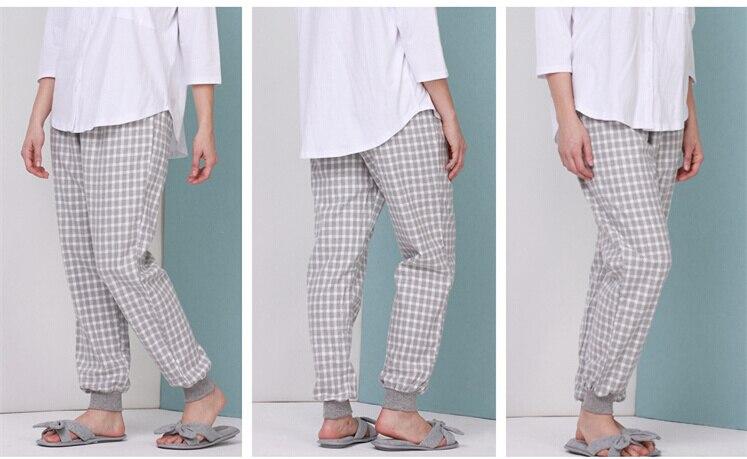 Women\\'S Sleeping Pants Cotton Long Night Wear Trousers Loose Elastic Pant Plus Size For Europa Summer Pajamas