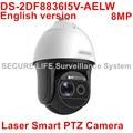 DHL versão Inglês DS-2DF8836I5V-AELW 4 K Laser Inteligente limpador de Câmera PTZ 36X zoom óptico 200 m IR POE 8mp